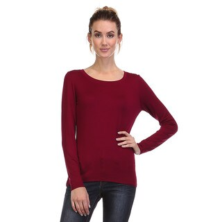 Spicy Mix Women's Whitney Fitted Long Sleeve Stretch Knit Top