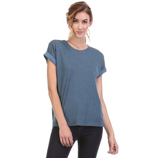 Spicy Mix Women's Emilia Scoop Neck Comfy Cotton Knit Top