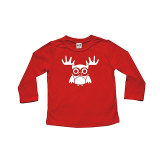 "Rocket Bug ""Reindeer Owl"" Baby Bodysuit"