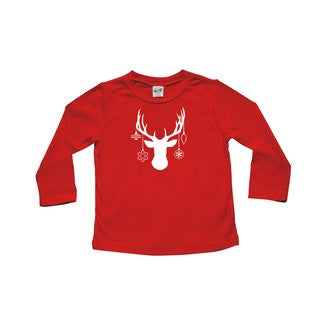 "Rocket Bug ""Decked Out Deer"" Baby Bodysuit"