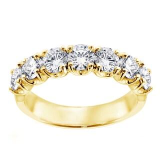 Yellow Gold 1 1/3ct TDW 7-Stone Diamond Wedding Band