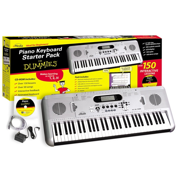 Piano For Dummies 61-Key Keyboard Starter Pack