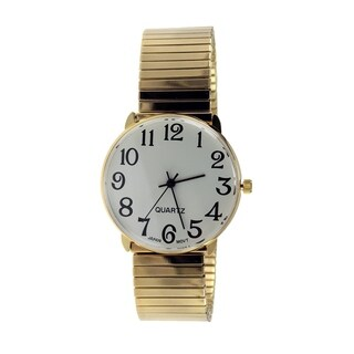 Men's Classic Stretch Band Watch with Easy-read Dial