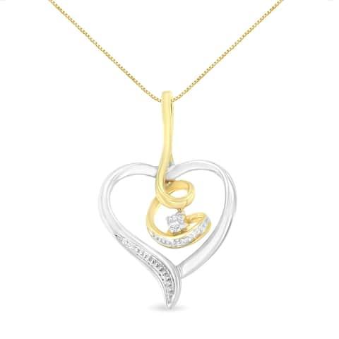 Espira 10K White Gold Heart Diamond Accent Pendant (J-K, I2-I3)