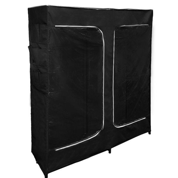 Black Portable Closet : Hold n storage florida brands black inch portable