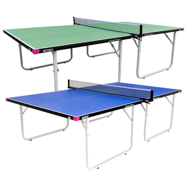 Butterfly Compact Indoor/Outdoor Table Tennis Table with Net Set - 3 Year Warranty - No Assembly - Great Bounce