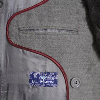 Blu Martini Men's Double-Breasted Wool Top Coat