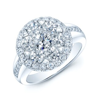 14k White Gold 2 1/10ct TDW Diamond Ring