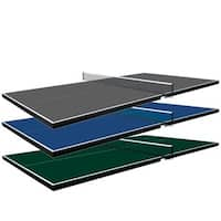 Martin Kilpatrick Conversion Table Tennis Top - Ping Pong Table for Pool Table - 3 Year Warranty - Net Set - Foam Pads