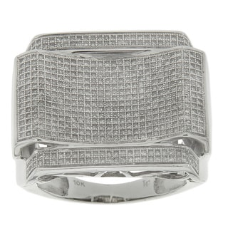10K White Gold Men's 1 2/5ct TDW Diamond Rings