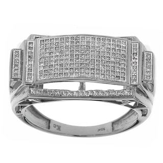 10K Gold White Men's 1/2ct TDW Diamond Rings
