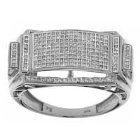 10K Gold White Men's 1/2ct TDW Diamond Rings