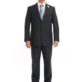 Verno Trutti Men's Navy Classic Fit Italian-Styled Two-Piece Suit