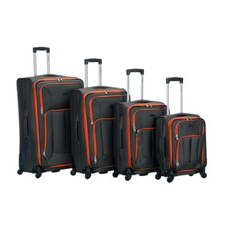 Link to Rockland Expandable Spinner 4-piece Luggage Set Similar Items in Luggage Sets