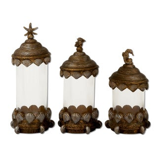 Coastal Living Decorative Glass Canister (Set of 3)