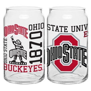 Ohio State Buckeyes 16-ounce Spirit Glass Set