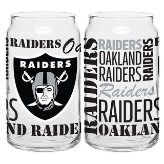 Oakland Raiders 16-Ounce Glass Spirit Glass Set