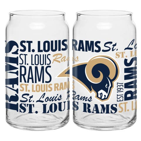 St. Louis Rams 16-Ounce Glass Spirit Glass Set
