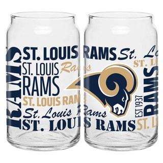 St. Louis Rams 16-Ounce Glass Spirit Glass Set