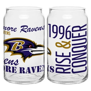 Baltimore Ravens 16-Ounce Glass Spirit Glass Set