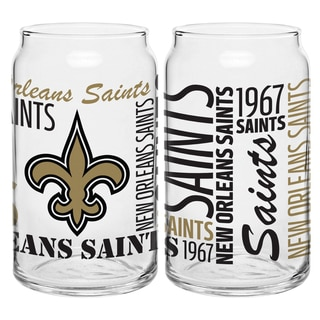 New Orleans Saints 16-Ounce Glass Spirit Glass Set