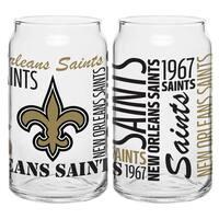 New Orleans Saints 16-Ounce Glass Spirit Glass Set