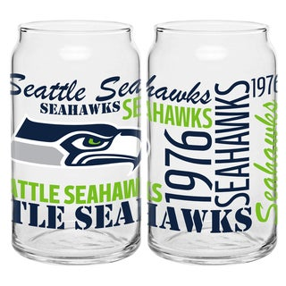 Seattle Seahawks 16-Ounce Glass Spirit Glass Set
