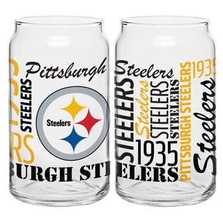 Pittsburgh Steelers 16-Ounce Glass Spirit Glass Set