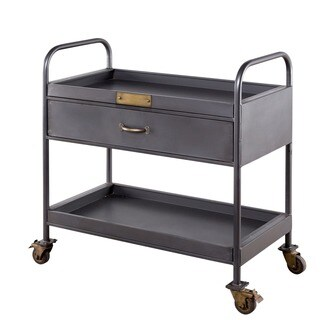 Industrial Single Drawer Bar Cart