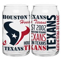 Houston Texans 16-Ounce Glass Spirit Glass Set