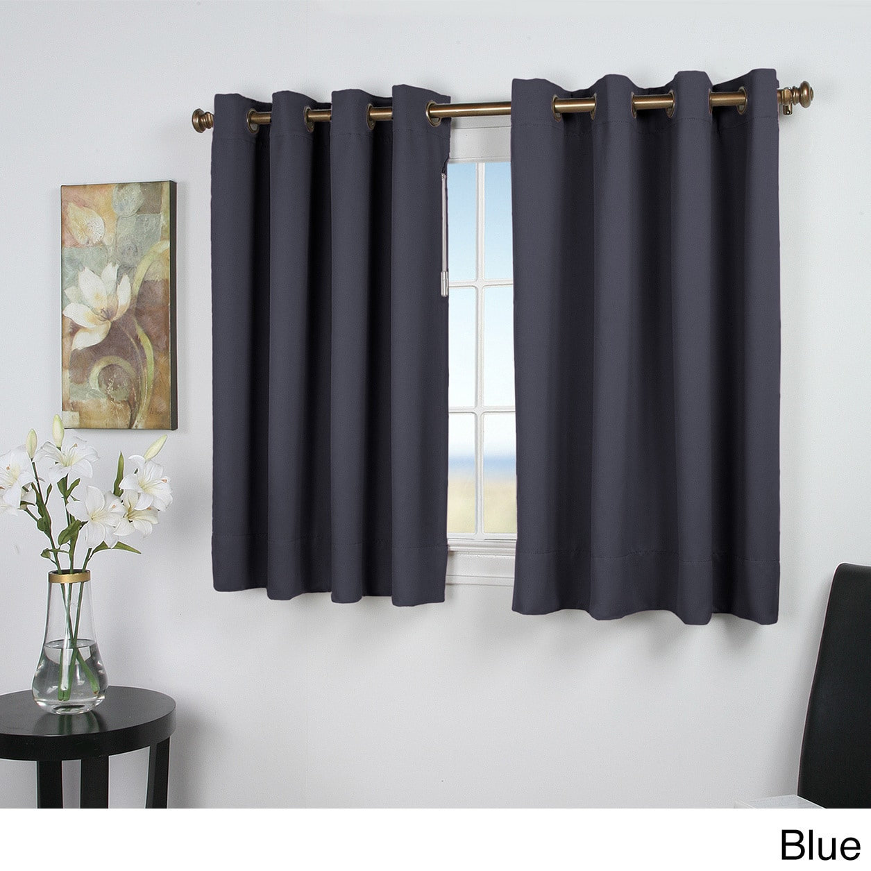Ultimate Blackout 45 Inch Short Length Grommet Curtain