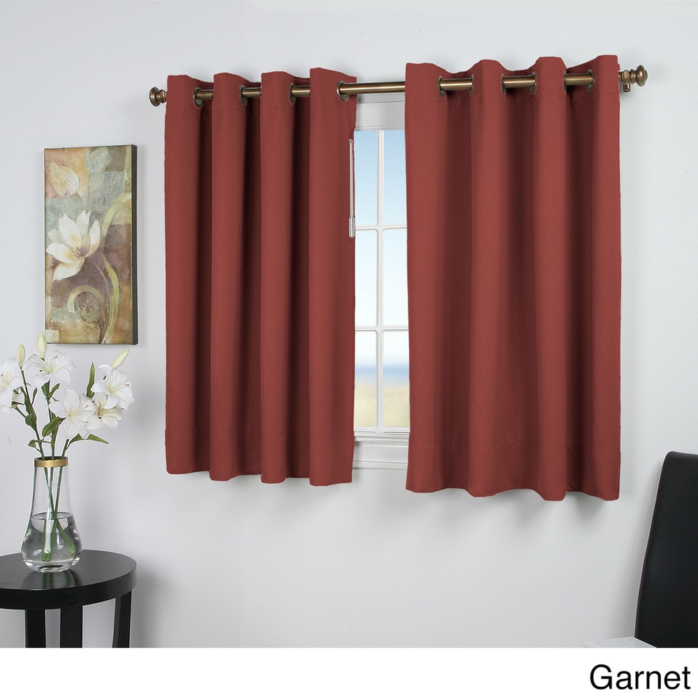 Shop Ultimate Blackout 45-inch Short Length Grommet Curtain Panel - Overstock - 10812849