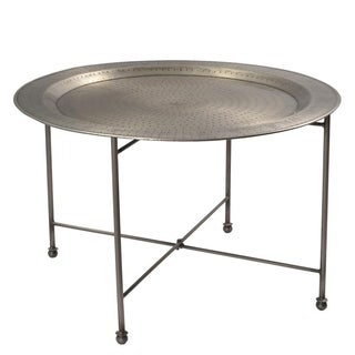 Nickel-plated Round Coffee Table (India)