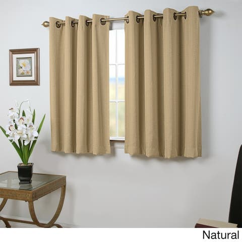 Grand Pointe 54 inch Length Grommet Short Blackout Panel with Attachable Wand