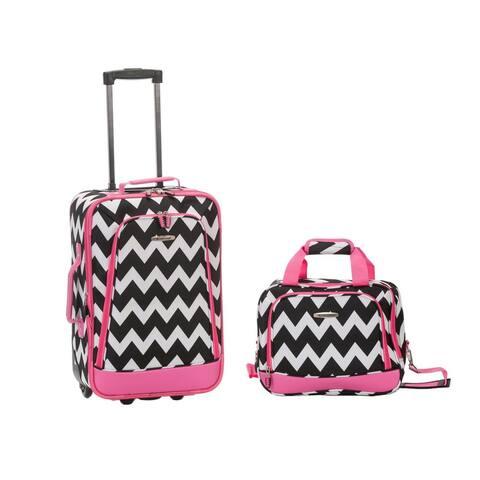 Rockland Chevron 2-Piece Lightweight Carry-On Luggage Set