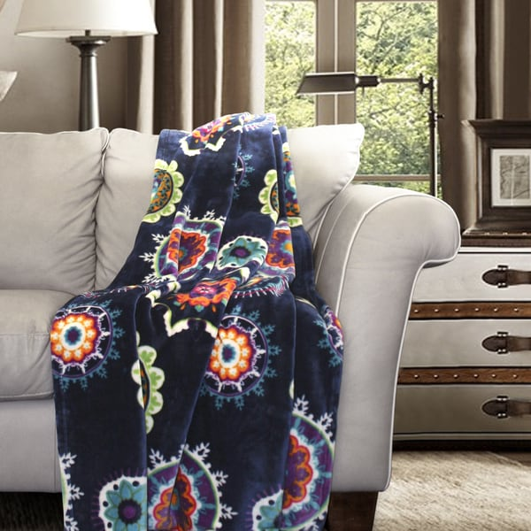 Lush Decor Adrianne Flannel Throw Blanket