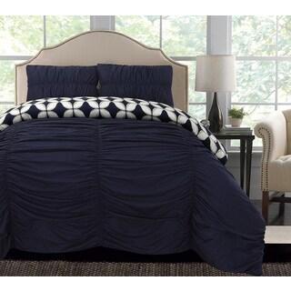 Thro by Marlo Lorenz Taylor Geo Printed Reversible 3-piece Comforter Set
