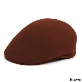 Ferrecci Men's Premium Wool English Flat Newsboy Hat