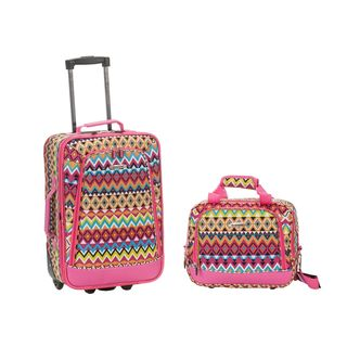 Rockland Tribal 2-Piece Lightweight Carry-On Luggage Set