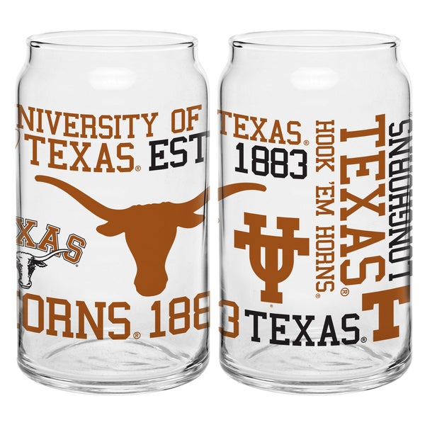 Texas Longhorns 16-ounce Spirit Glass Set