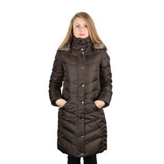 Michael Michael Kors 3/4 Brown Down Puffer Coat