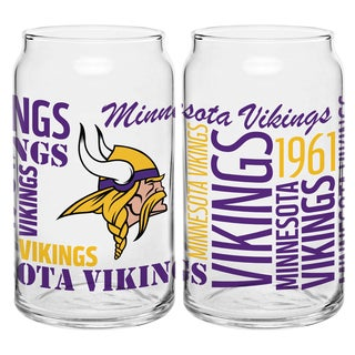 Minnesota Vikings 16-Ounce Glass Spirit Glass Set