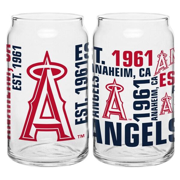 Los Angeles Angels 16-Ounce Glass Spirit Glass Set