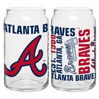 Atlanta Braves 16-Ounce Glass Spirit Glass Set