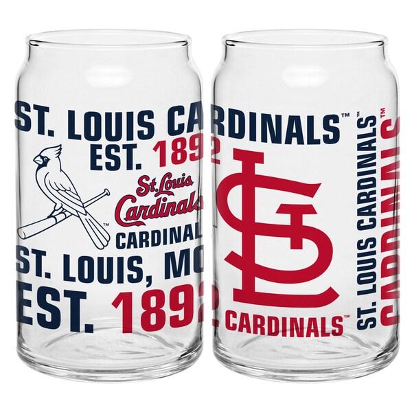 St. Louis Cardinals 16-Ounce Glass Spirit Glass Set