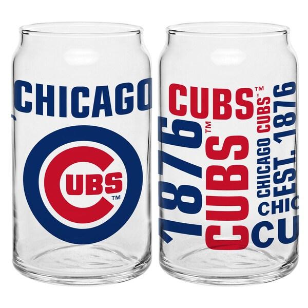 Chicago Cubs 16-Ounce Glass Spirit Glass Set