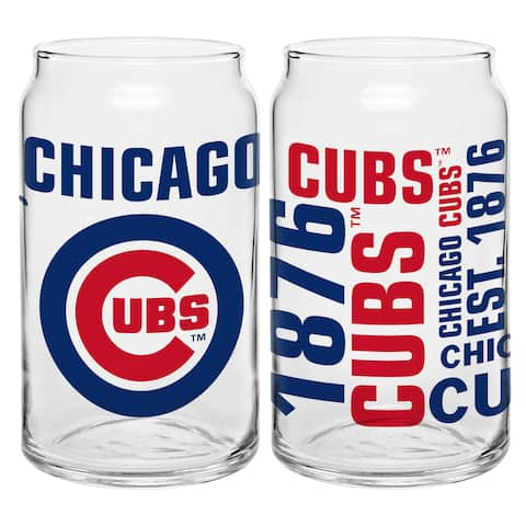 Chicago Cubs 16-Ounce Glass Spirit Glass Set