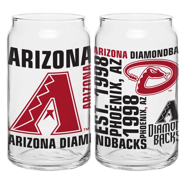 Arizona Diamondbacks 16-Ounce Glass Spirit Glass Set