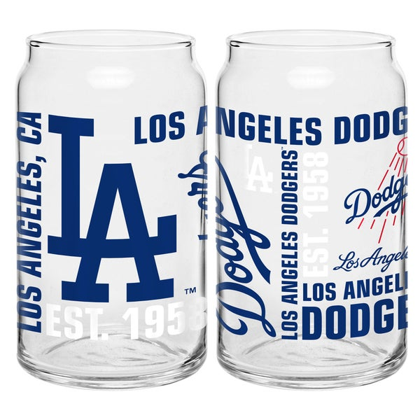 Los Angeles Dodgers 16-Ounce Glass Spirit Glass Set