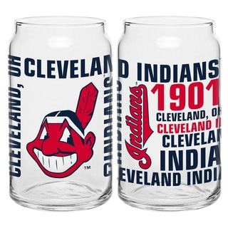 Cleveland Indians 16-Ounce Glass Spirit Glass Set